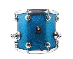 "Natal Originals Maple 14"" x 12"" Floor Tom (with Legs) in Blue Sparkle Drum Sets Natal"