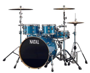 Natal Drums Original Maple UF22 4-Piece Shell Pack in Blue Sparkle