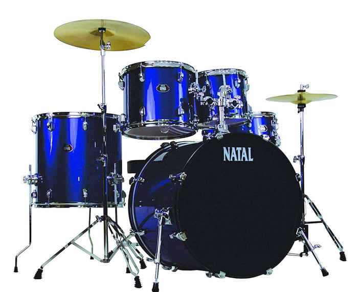 Natal Drums DNA UF22 5-Piece Drum Set, Blue