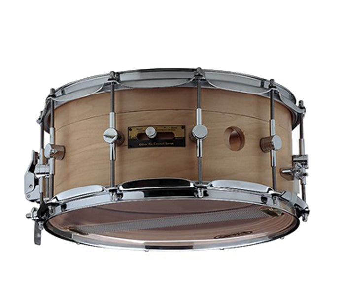 "Odery Snare Drum ""Air Control System"" 14 x 6.5"" in Maple/Nyatoh Natural"