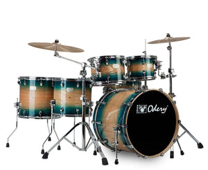 "Odery ""Fluence"" 401 Fusion 6-Piece Drum Sets with Hardware in Blue Burst Drum Sets Odery Drums"