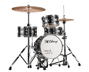 Odery Cafe Kit Compact Drum Kit in Black Ash Drum Sets Odery Drums