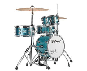 Odery Cafe Kit Compact Drum Kit in Blue Sparkle - Megatone Music