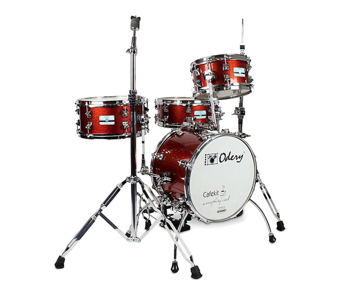Odery Cafe Kit Compact Drum Kit in Copper Sparkle