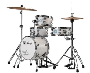 Odery Cafe Kit Compact Drum Kit in White Ash - Megatone Music