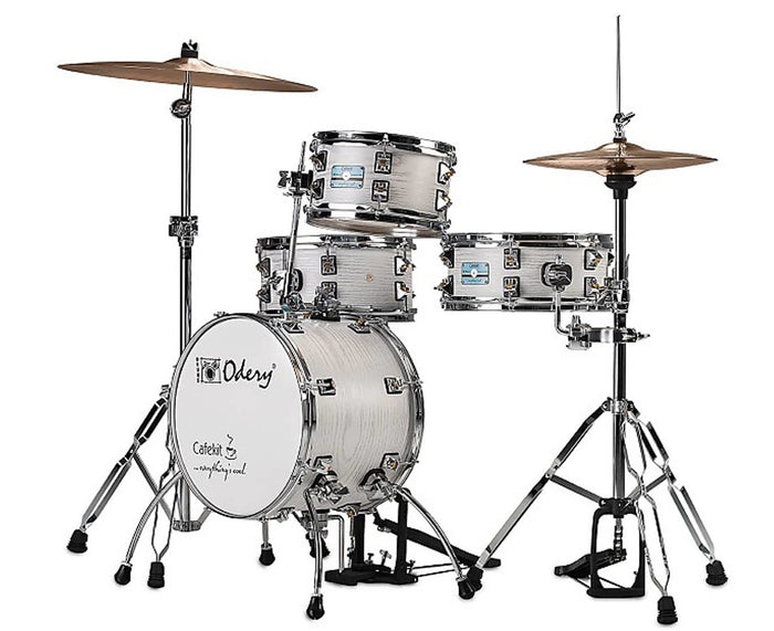 Odery Cafe Kit Compact Drum Kit in White Ash