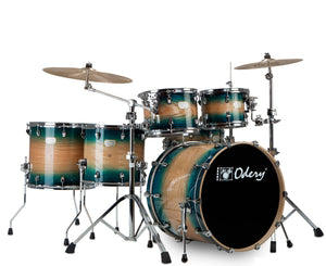 "Odery ""Fluence"" 401 Fusion 6-Piece Drum Sets with Hardware in Emerald Burst Drum Sets Odery Drums"
