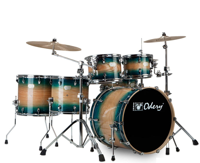 "Odery ""Fluence"" 401 Fusion 6-Piece Drum Sets with Hardware in Emerald Burst"