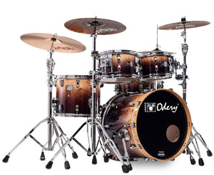 Odery Drum Eyedentity 4-Piece Shell Pack #135 in Mappa Burl Brown Fade Drum Sets Odery Drums