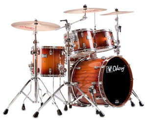 Odery Drum Eyedentity 4-Piece Shell Pack #135 in Nyatoh Red River Drum Sets Odery Drums