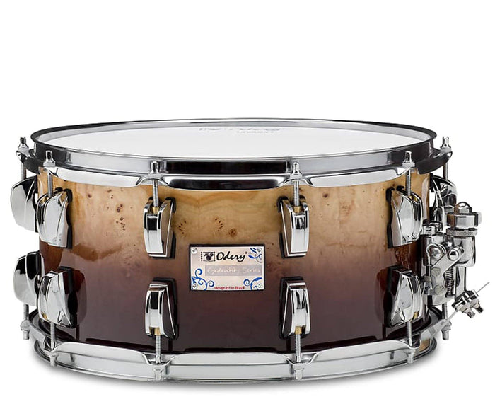 Odery Snare Drum Eyedentity Series 14 x 7 in Mappa Burl Brown Fade