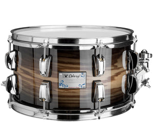 Odery Snare Drum Eyedentity Series 12 x 7 in Birch/Tigerwood Trans Black - Megatone Music