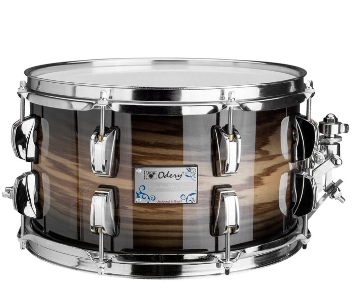 Odery Snare Drum Eyedentity Series 12 x 7 in Birch/Tigerwood Trans Black