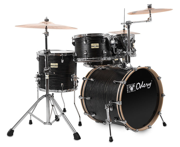 "Odery ""Fluence"" Jam Drum Sets with Hardware in Black Ash"