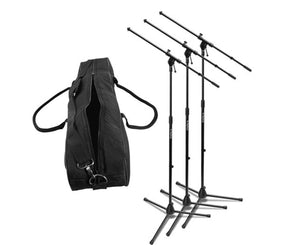 On-Stage MS7701B Euroboom Microphone Stand with Bag (3 Stands) Mic Stand Souldier