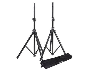 On-Stage SSP7950 Tripod Speaker Stand Package with Bag, Black - Megatone Music