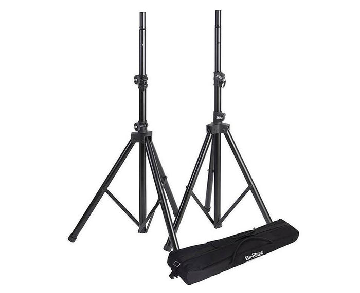 On-Stage SSP7950 Tripod Speaker Stand Package with Bag, Black