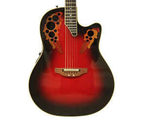 Ovation 2178 Ultra Acoustic-Electric Guitar in Black Cherry Burst, OHSC