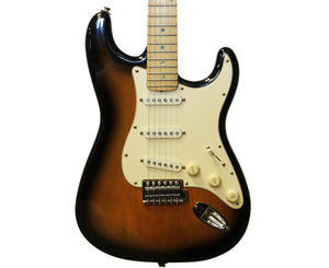 Partscaster Strat-Style Electric Guitar in Sunburst - Birds Eye Neck - Megatone Music