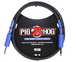 Pig Hog PHSC3 8mm Speaker Cable 3ft 14 Gauge Wire - Head to Cab - Megatone Music