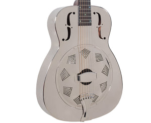 Recording King RM-998-R Metal Body Resonator- Free Rock Slide - Megatone Music