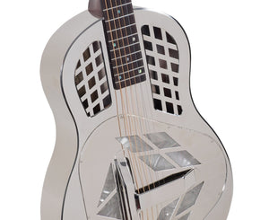 Recording King RM-991 Metal Body Resonator, Tricone - Free Rock Slide Resonator Recording king