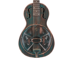 Recording King RM-993-VG Metal Body Resonator in Vintage Green