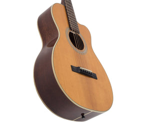Recording King RP1-16C Schoenberg Torrefied Adirondack Spruce Top Guitar, 0 Body Cutaway Acoustic Guitars Recording king