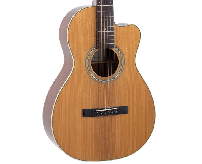 Recording King RP1-16C Schoenberg Torrefied Adirondack Spruce Top Guitar, 0 Body Cutaway