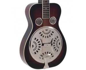Recording King RR-60-VS Professional Wood Body Squareneck Resonator - Free Chrome Slide - Megatone Music