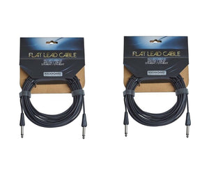 "RockBoard Flat Lead Cable 600CM / 236.22"" / 20 Foot Straight to Straight 2-Pack - Megatone Music"