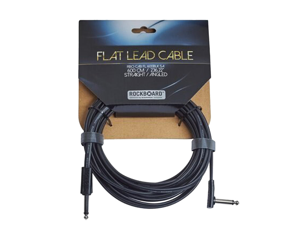 "RockBoard Flat Lead Cable 600CM / 236.22""/ 20 Foot Straight to Angled - Megatone Music"