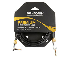 RockBoard Premium Flat Lead Cable 10 Foot / 300CM Straight to Angled - Megatone Music