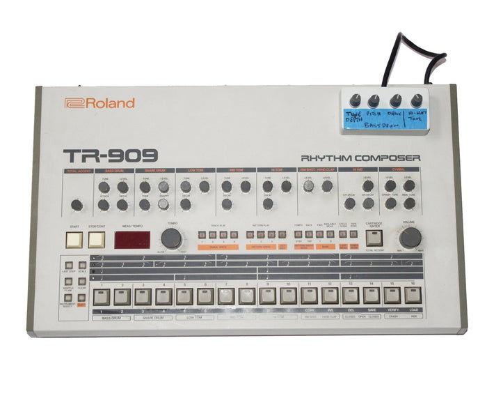 Roland TR-909 Rhythm Composer Drum Machine with Bass Drum Mod