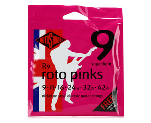 Rotosound R9 Pinks Electric Guitar Strings 9-42