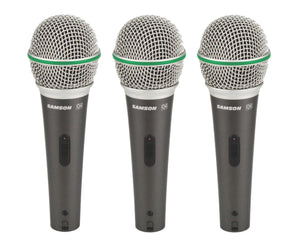Samson Q Series Handheld Dynamic Microphone 3-Pack - Megatone Music