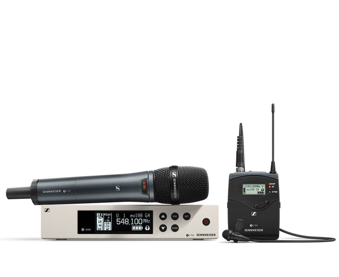 Sennheiser EW100 G4-ME2/835-S Combo Wireless Handheld and Lavalier Microphone System