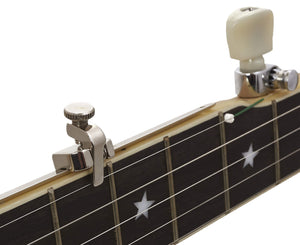 Shubb FS 5th String Banjo Capo, Nickel Plated Stainless Steel - Made in USA - Megatone Music