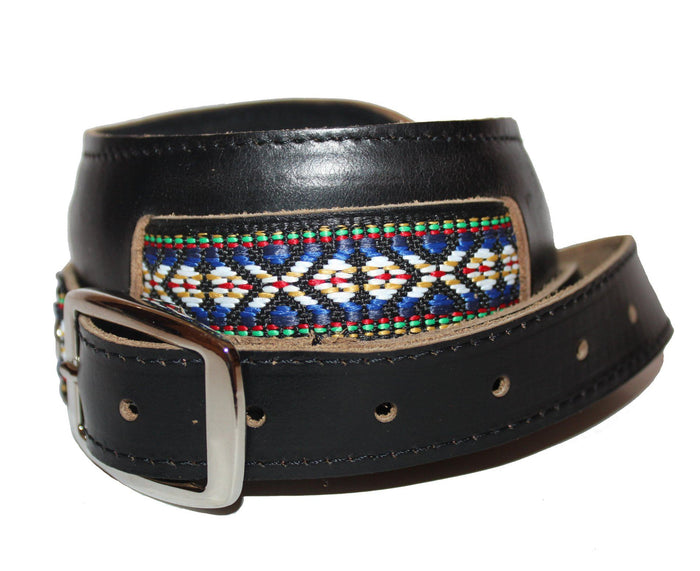 Souldier Vintage Leather Saddle Strap - Classic Weave  - Black