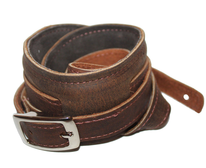 Souldier Vintage Leather Saddle Strap - Dark Brown