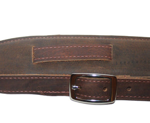 Souldier Vintage Leather Saddle Strap - Dark Brown Guitar Straps Souldier