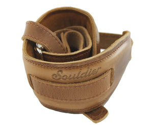Souldier Vintage Leather Saddle Strap - Brown - Megatone Music
