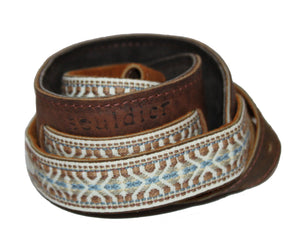 Souldier Vintage Leather Saddle Strap - Laredo Tundra Guitar Straps Souldier