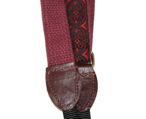 "Souldier 1.0"" Papyrus Red Custom Ukulele Strap Guitar Straps Souldier"