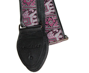 "Souldier 2.0"" Bombay Custom Made Strap  Pink and Black - Megatone Music"