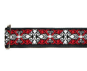 "Souldier 1.5"" Constantine in Red and Black Custom Guitar Strap - Megatone Music"