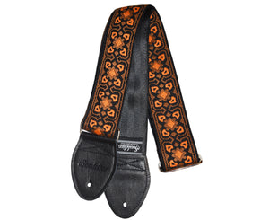 "Souldier 2.0"" Fillmore Orange / Black Custom Guitar Strap"