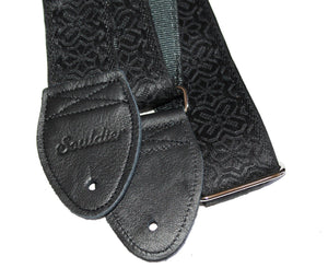 "Souldier 2.0"" Greenwich Black on Black Custom Guitar Strap Guitar Straps Souldier"