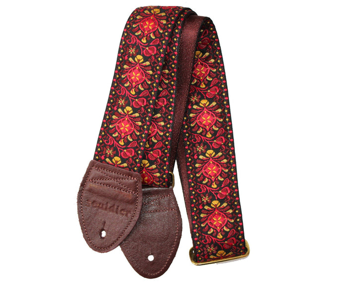 "Souldier 2.0"" Hendrix in Maroon Custom Guitar Strap"