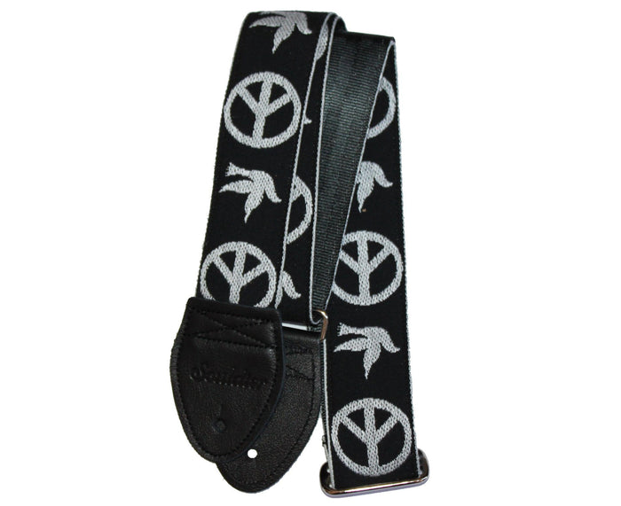 "Souldier 2.0"" Peace ""Neil Young"" in Black - Custom Guitar Strap"